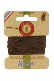 Waxed cable linen size 332 10m card -  518 - Mole