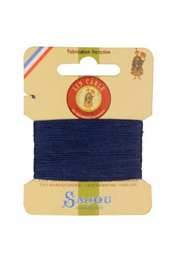 Fil Au Chinois waxed cable linen size 332 10m card - Colour 667 Night