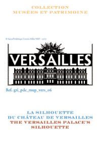 Sajou cross-stitch pattern chart: the Palace of Versailles silhouette