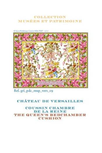 Sajou cross-stitch pattern chart: the Queen's Bedchamber in Versailles Palace