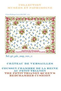Sajou cross-stitch pattern chart: Petit Trianon Queen's Bedchamber cushion