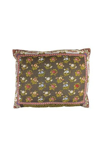 Large Sajou embroidered cushion: Marie Antoinette and Mme Élisaeth Tapestry