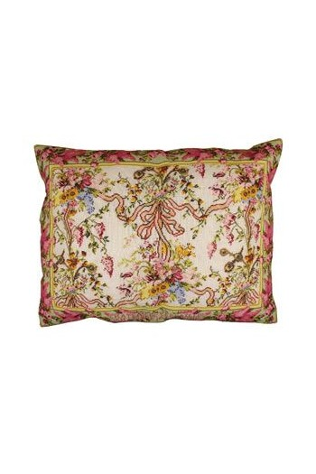 Sajou embroidered cushion: large Queen's Bedchamber cushion in Versailles Palace