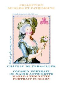 Sajou cross stitch pattern chart: the portrait of Marie-Antoinette