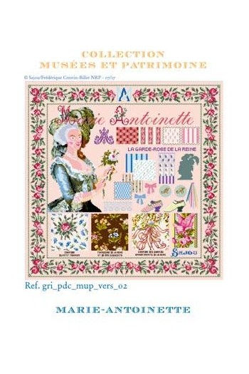 Sajou cross-stitch kit: Queen Marie-Antoinette in the Palace of Versailles