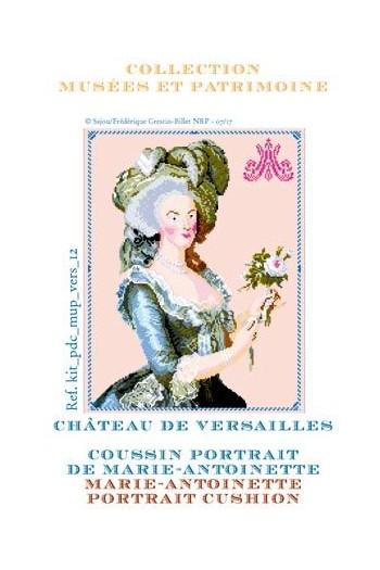 Sajou cross stitch kit: portrait of Marie-Antoinette at Le Petit Trianon
