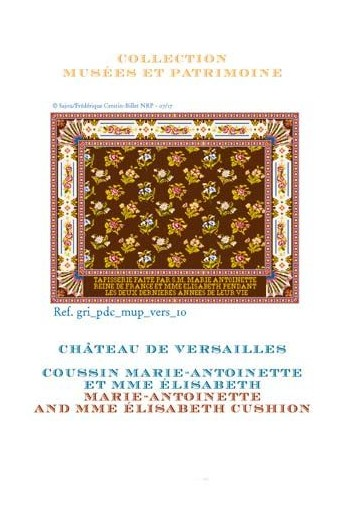 Sajou cross-stitch pattern chart: large Marie Antoinette and Mme Élisabeth Tapestry cushion