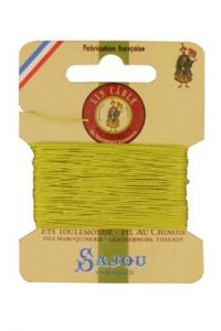 Fil Au Chinois waxed cable linen size 832 10m card - Colour 519 - Mojito