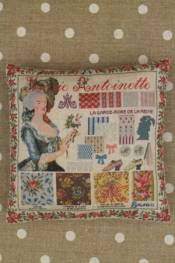 Marie-Antoinette pattern small cushion sewing kit