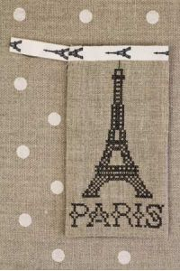 Cross stitch embroidery kit - Eiffel tower case black