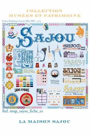 Cross-stitch kit: the history of Maison Sajou