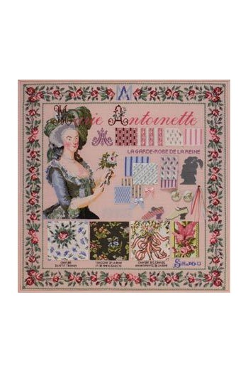Embroidered Marie-Antoinette project: finished format 56.7 x 56.7cm
