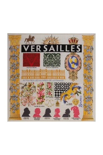 Embroidered Château de Versailles project: finished format 57.3 x 57.5cm