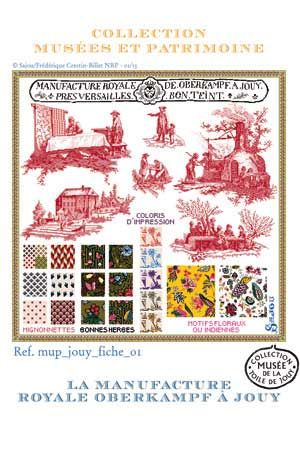 Cross stitch pattern kit: Oberkampf manufactory Toiles de Jouy