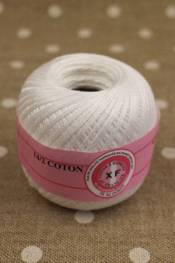 Knitting and crochet yarn size 14/2 colour white