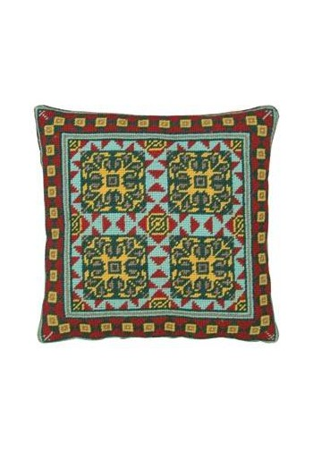 Basketweave tapestry kit: cement tile Lagorce model