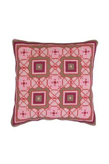 Basketweave tapestry kit: cement tile Mirabel model