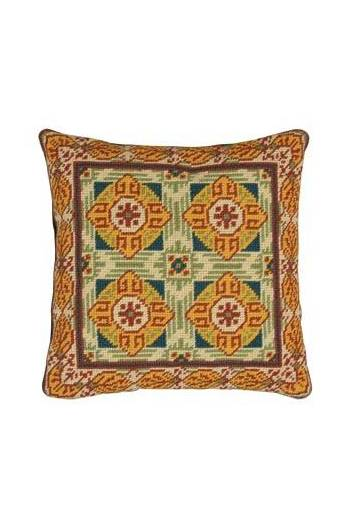 Basketweave tapestry kit: cement tile Sauzet model