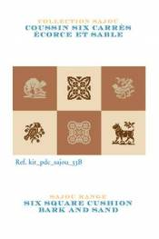 Cross stitch kit: cushion six squares bark and sand