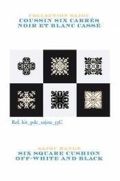 Cross stitch kit: cushion six squares black and off-white