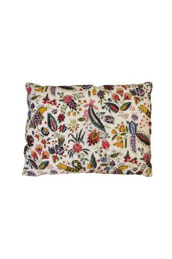 Sajou rectangular cushion embroidered with Coquecigrues motif