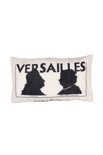 Sajou embroidered cushion: Louis XIV and his wife Marie-Thérèse d'Autriche