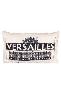 Sajou embroidered cushion: the silhouette of the Palace of Versailles