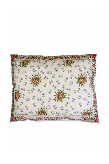 Large Sajou embroidered cushion: Queen's Bedchamber cushion in Petit Trianon