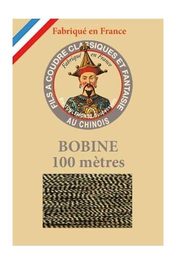 Fil Au Chinois polyester metallized sewing thread 100m spool Col. 105 Two-tone gold