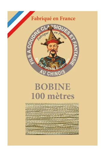 Fil Au Chinois polyester metallized sewing thread 100m spool Col. 302 - Glitter
