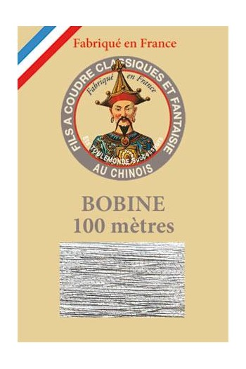 Fil Au Chinois polyester metallized sewing thread 100m spool Col. 122 Silver