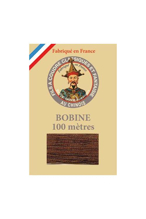 Fil Au Chinois polyester metallized sewing thread 100m spool Col. 145 - Bronze