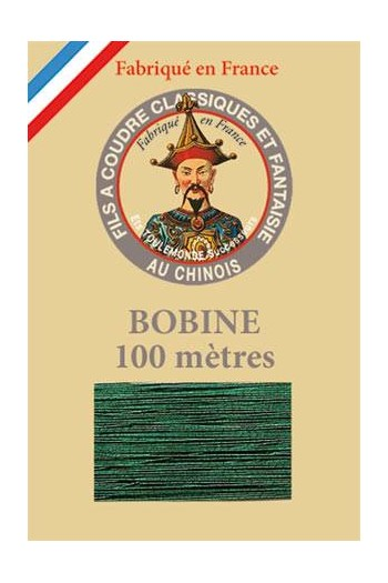 Fil Au Chinois polyester metallized sewing thread 100m spool Col. 270 - Pine