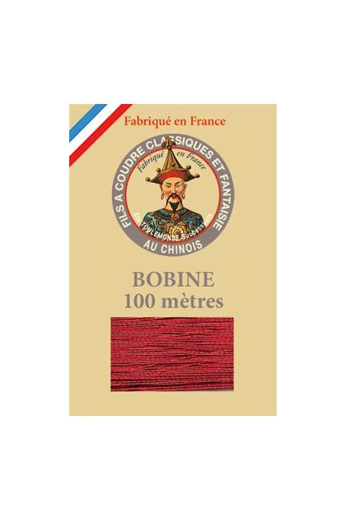 Fil Au Chinois polyester metallized sewing thread 100m spool Col. 210 - Red