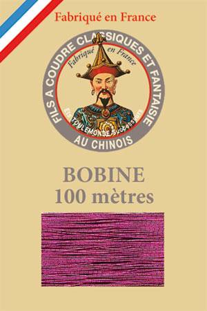 Polyester metallized sewing thread - 100m spool 235 - Fuchsia