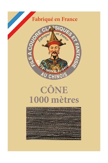Metallic Garn Polyester Fil Au Chinois 1000m Kone Nr. 165 Anthrazit