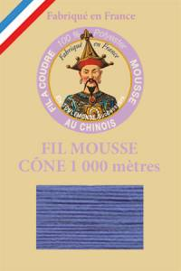 Fil Au Chinois polyester overlock thread 1000m cone Col. 2028 Blue grey