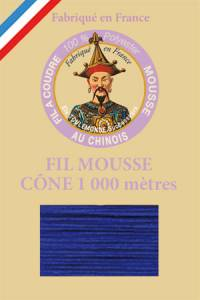 Fil Au Chinois polyester overlock thread 1000m cone Col. 2076 Sapphire