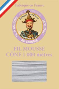 Fil Au Chinois polyester overlock thread 1000m cone Col. 2011 Light Grey