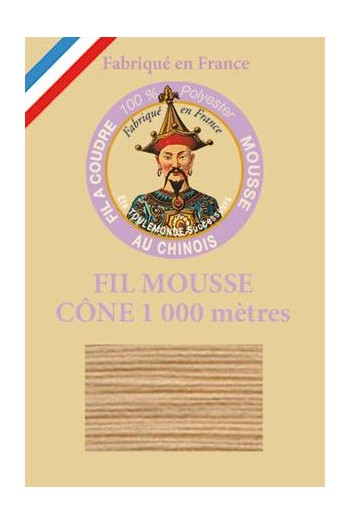 Fil mousse polyester Fil Au Chinois cône 1 000 m Col. 2084 Beige