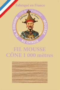 Fil Au Chinois polyester overlock thread 1000m cone Col. 2084 Beige