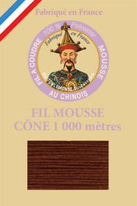 Fil Au Chinois polyester overlock thread 1000m cone Col. 2058 Coffee