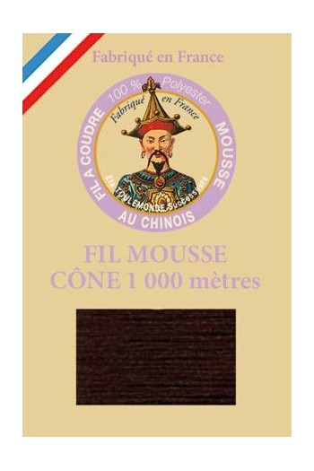 Fil Au Chinois polyester overlock thread 1000m cone Col. 2981 Brown