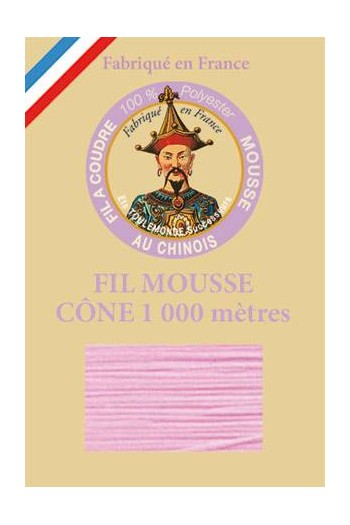 Fil mousse polyester Fil Au Chinois cône 1 000 m Col. 2031 Rose