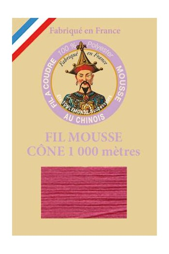 Fil mousse polyester Fil Au Chinois cône 1 000 m Col. 2119 Vieux rose