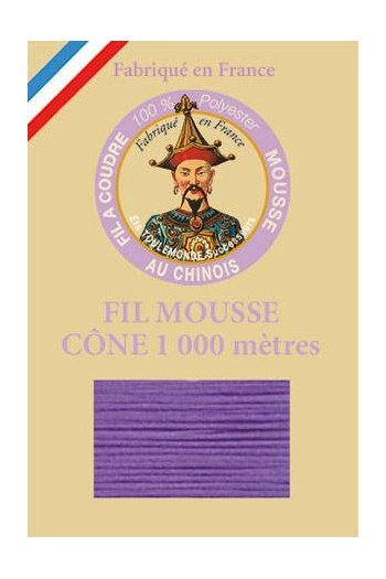 Fil Au Chinois polyester overlock thread 1000m cone Col. 2979 Mauve