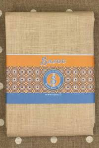 Sand linen square - 70 x 70cm for large Bayeux pattern
