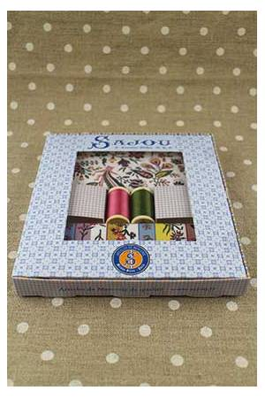 Gift box fabrics and threads Coquecigrues