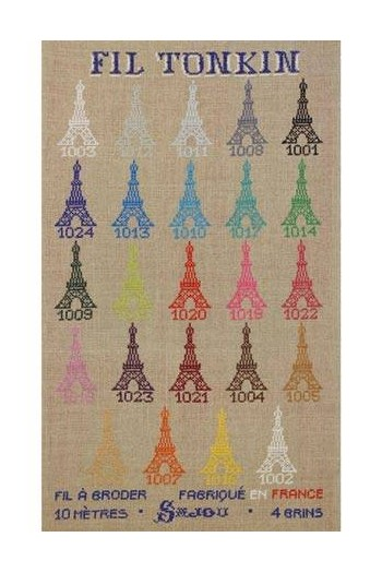 Sajou cross stitch kit : Tonkin embroidery floss collection