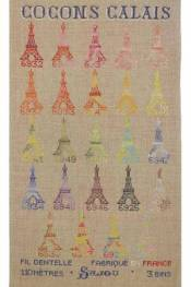 Cross stitch kit : Calais variegated cocoons collection